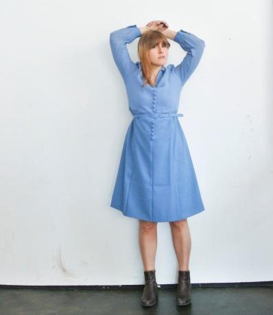 50er/ 60er Mod-Kleid in blassem Blau!